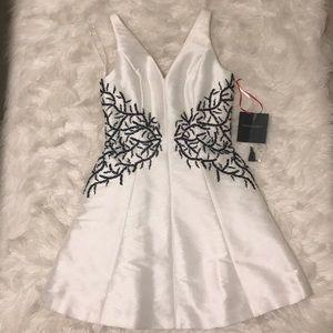 Winter white mini dress